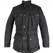 Richa Bonneville Wax Cotton Jacket Black